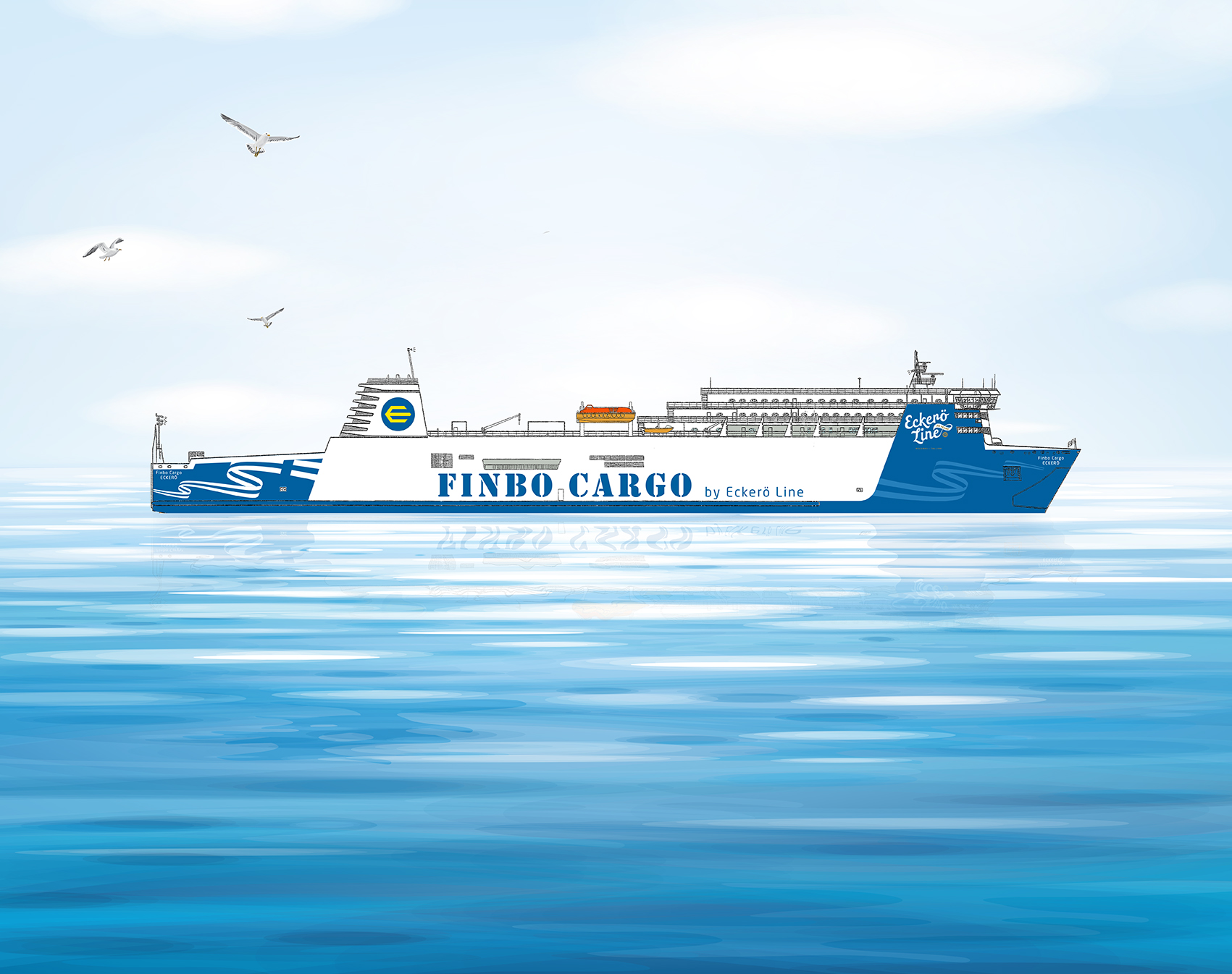 Eckerö Line'i laev Finbo Cargo sõidab Muuga sadamast Vuosaarisse alla kolme tunni