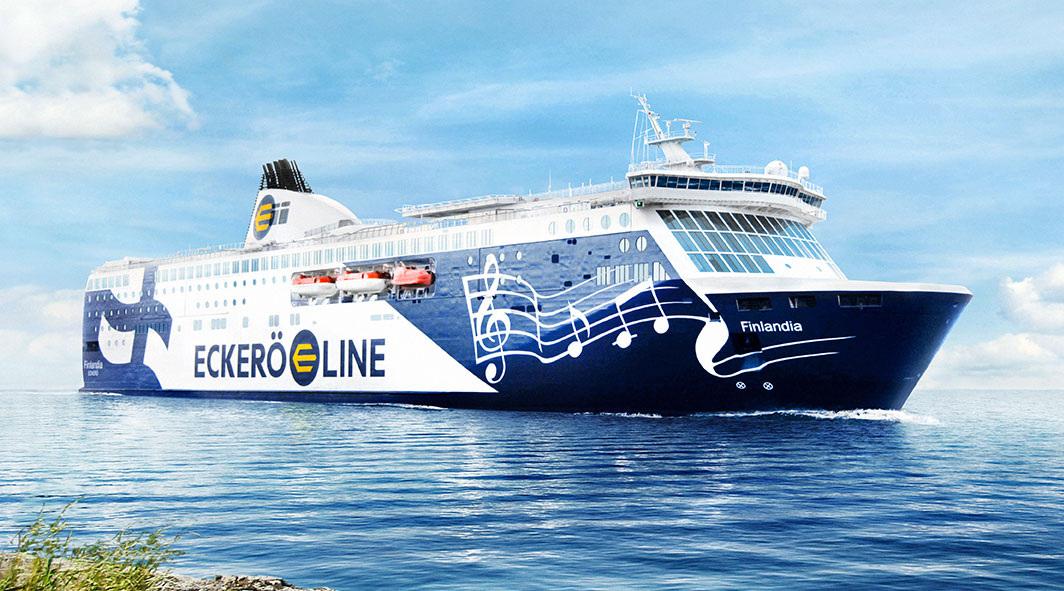 Toetusstreigi mõjud Eckerö Line'i laevade väljumistele