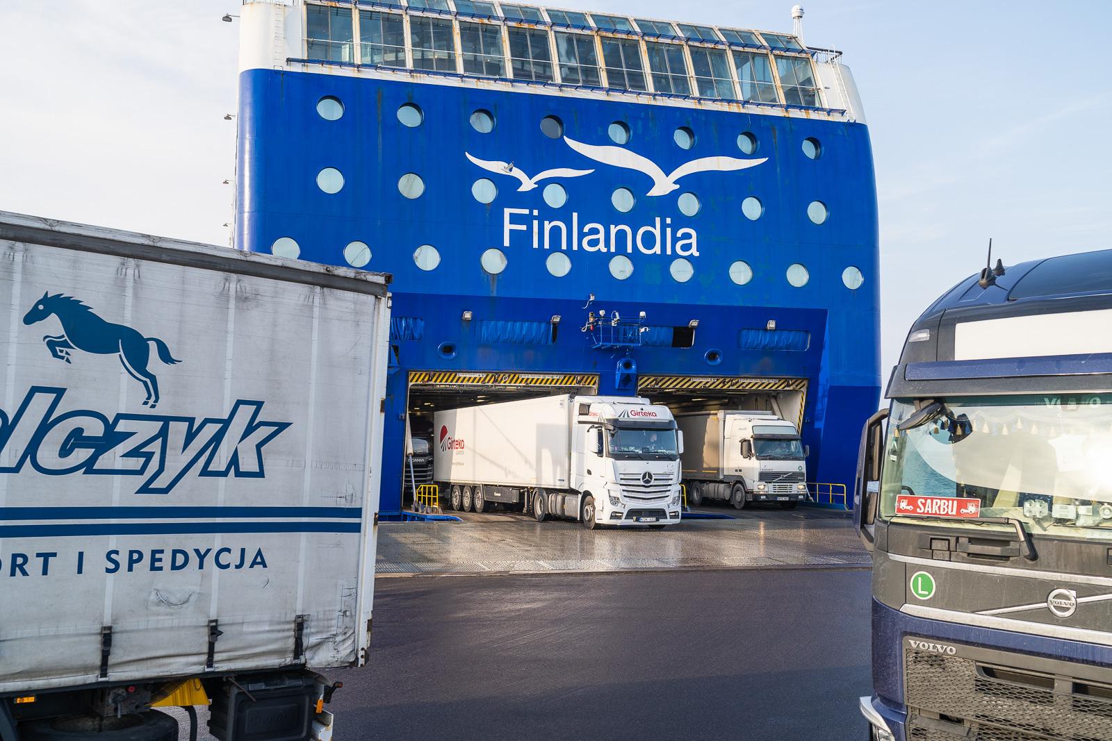 MS Finlandia jätkab kaubaveoteenuste pakkumist Tallinn-Helsingi liinil